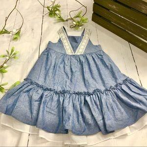 Bonnie Jean Girls Blue Jean Dress - Size 4T